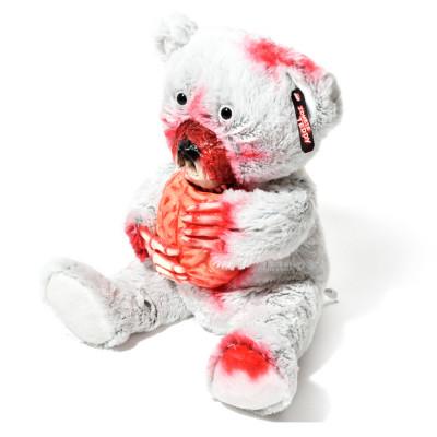 Horror Teddy - Zombie Teddybär aus Plüsch - Weiß mit Hirn