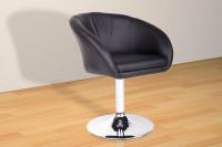 Lounge Sessel aus Kunstleder - Vanity in Schwarz
