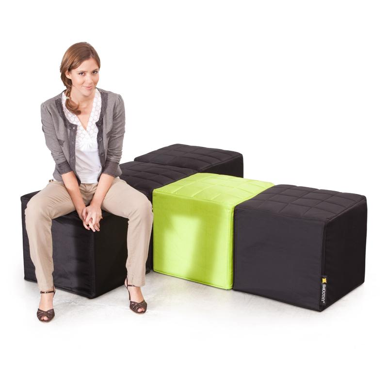 Cube Sitzwürfel Schwarz