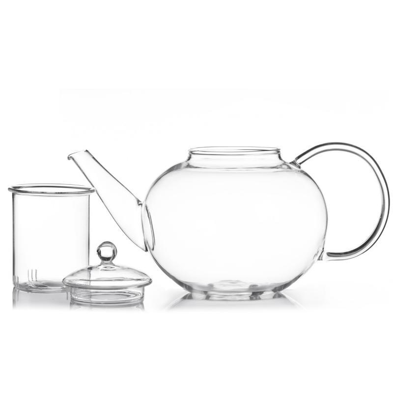 Teekanne mit Glasfilter