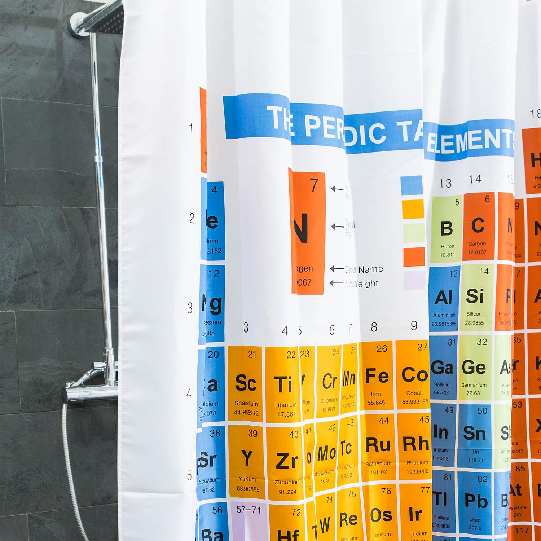 periodensystem duschvorhang der chemischen elemente. Black Bedroom Furniture Sets. Home Design Ideas