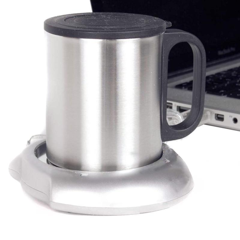 USB Tassenwärmer mit Edelstahl Tasse