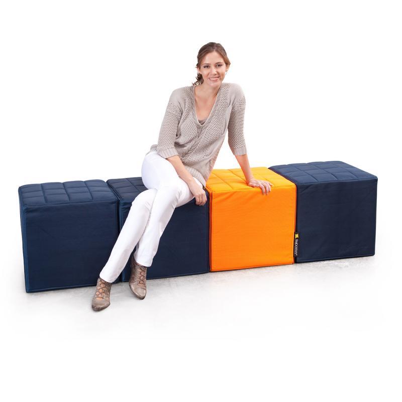 Cube Sitzwürfel Blau