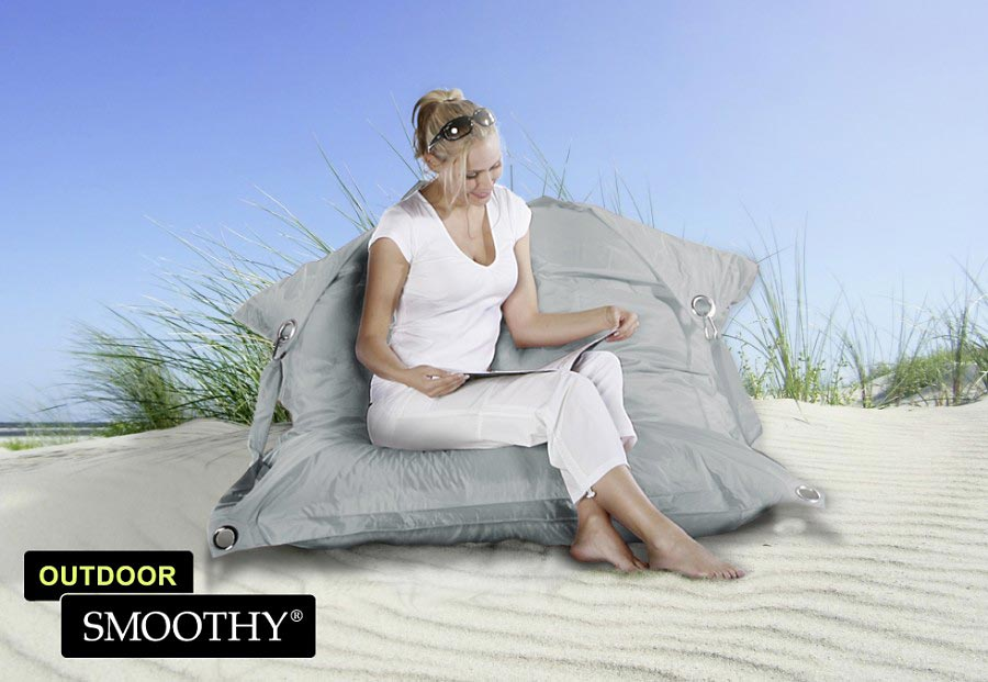 smoothy sitzsack outdoor supreme in stein grau. Black Bedroom Furniture Sets. Home Design Ideas