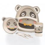 Kindergeschirr aus Bambus - Bambusgeschirr für Kinder - Panda