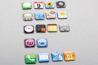 Kühlschrankmagnete Magnetpins im App-Design