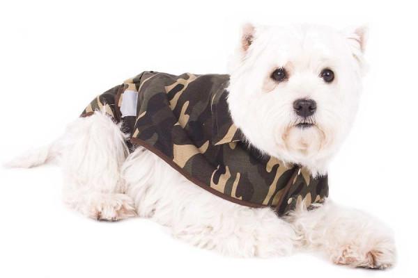Hundejacke Camouflage Hundemantel