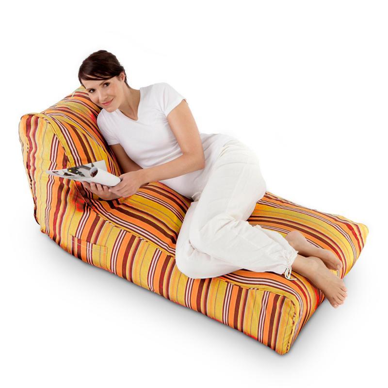Sitzsack Lounge Daybed gestreift