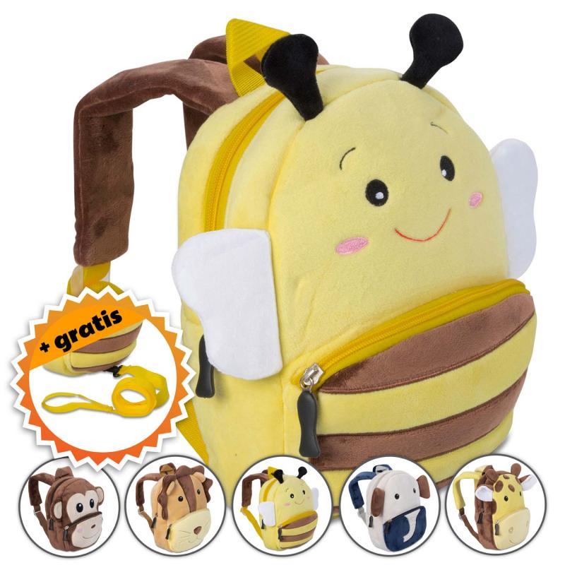 Rucksack für Kleinkinder mit Sicherheitsgurt & Leine - Tier Kinderrucksack
