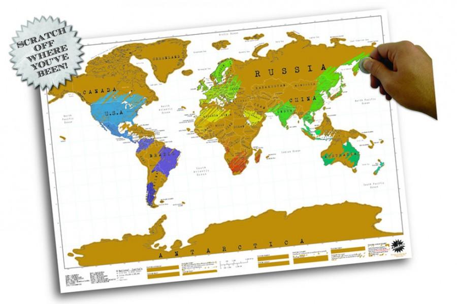 Rubbel Weltkarte Scratch Map Weltkarte zum Rubbeln