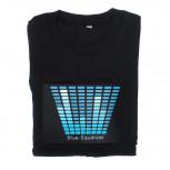 LED T-Shirt - Animiertes Equalizer Shirt blau - Geheimshop.de