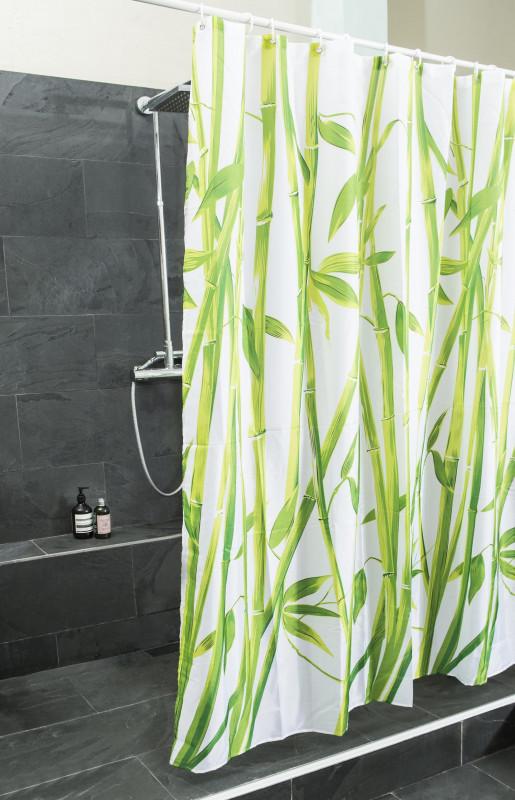 Bambus Design Duschvorhang