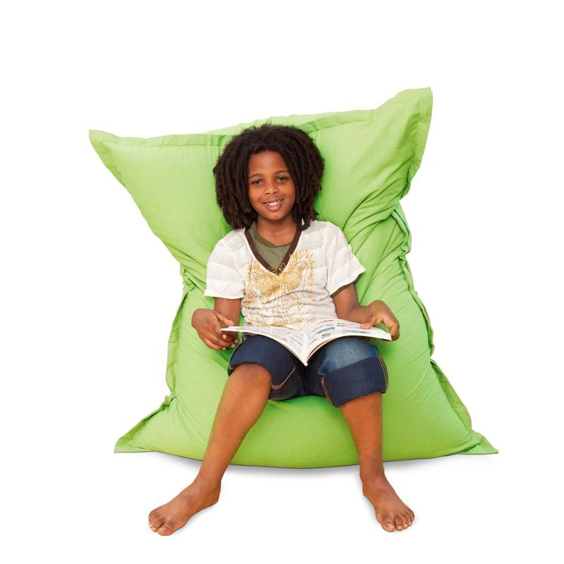 Sitzsack Junior Baumwolle grün