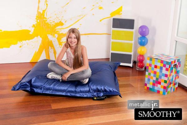 Smoothy Kinder Sitzsack Metallic Jr. Blau