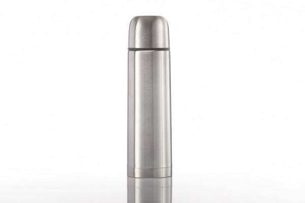 Doppelwandige Thermosflasche aus Edelstahl mit Vakuumverschluß
