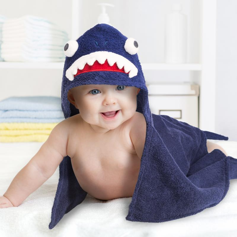 Baby Kapuzenhandtuch Haifisch