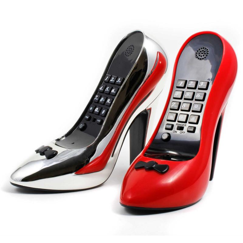 pumps telefon retro telefon im stiletto look. Black Bedroom Furniture Sets. Home Design Ideas