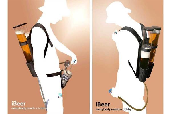 Bierrucksack - Duo Getränkerucksack mit 2x3 Liter