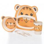 Kindergeschirr aus Bambus - Bambusgeschirr für Kinder - Tiger