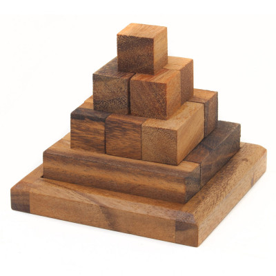 3D Puzzle - Pyramiden Knobelspiel aus Holz - Geheimshop.de