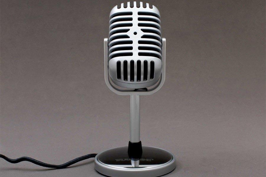 retro mikrofon nostalgie mit aufnahme shop g nstig kaufen. Black Bedroom Furniture Sets. Home Design Ideas