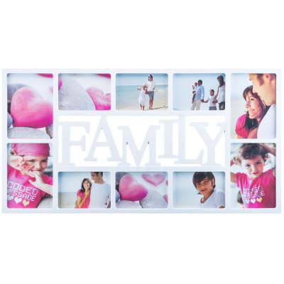 Bilderrahmen Family XXL für 10 wunderschöne Familien-Fotos