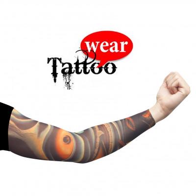 Tattoo Ärmel - Tattooärmel für Karneval & Party - Space Alien