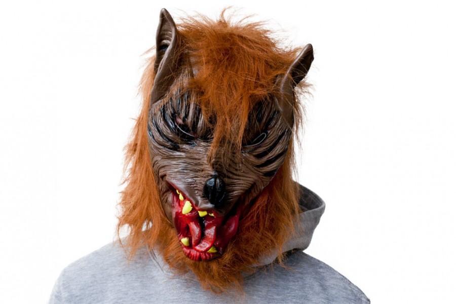 Werwolfmaske Horror Werwolf Maske aus Latex für Halloween