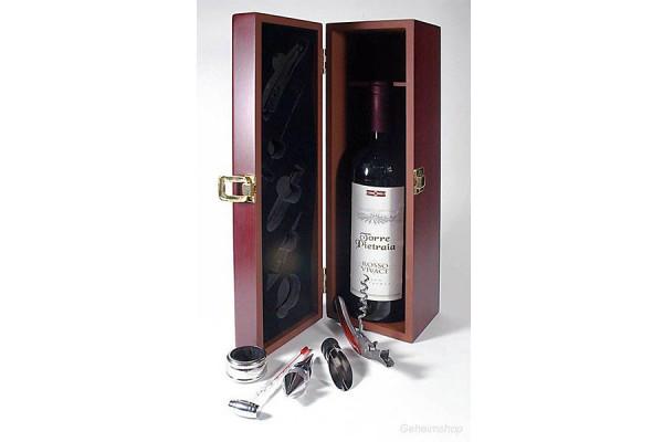 Holzbox Sommelier Set Holzkiste - Weinkiste mit Weinset