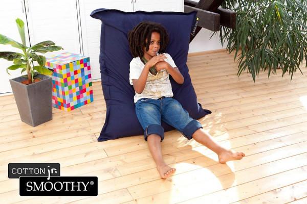 Smoothy Cotton Jr. Kinder Sitzsack aus Baumwolle in Blau