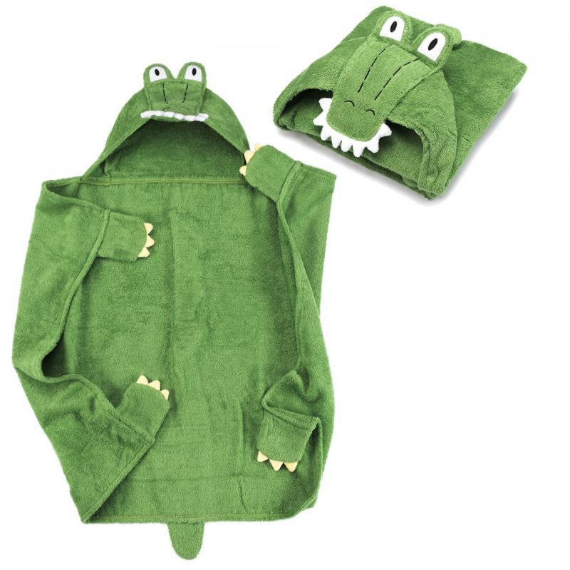 Krokodil Kinder Handtuch mit Kapuze