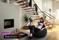 Smoothy Sitzsack - Sitzkissen Lounge Eggshell - Stripes