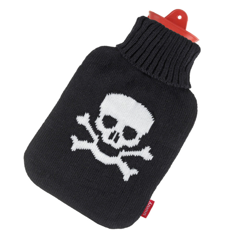 Wärmflasche mit Totenkopf