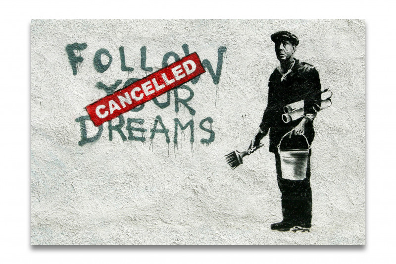 banksy canceled kunstdruck