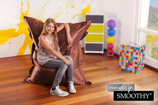 Smoothy Kinder Sitzsack Metallic Jr. Braun