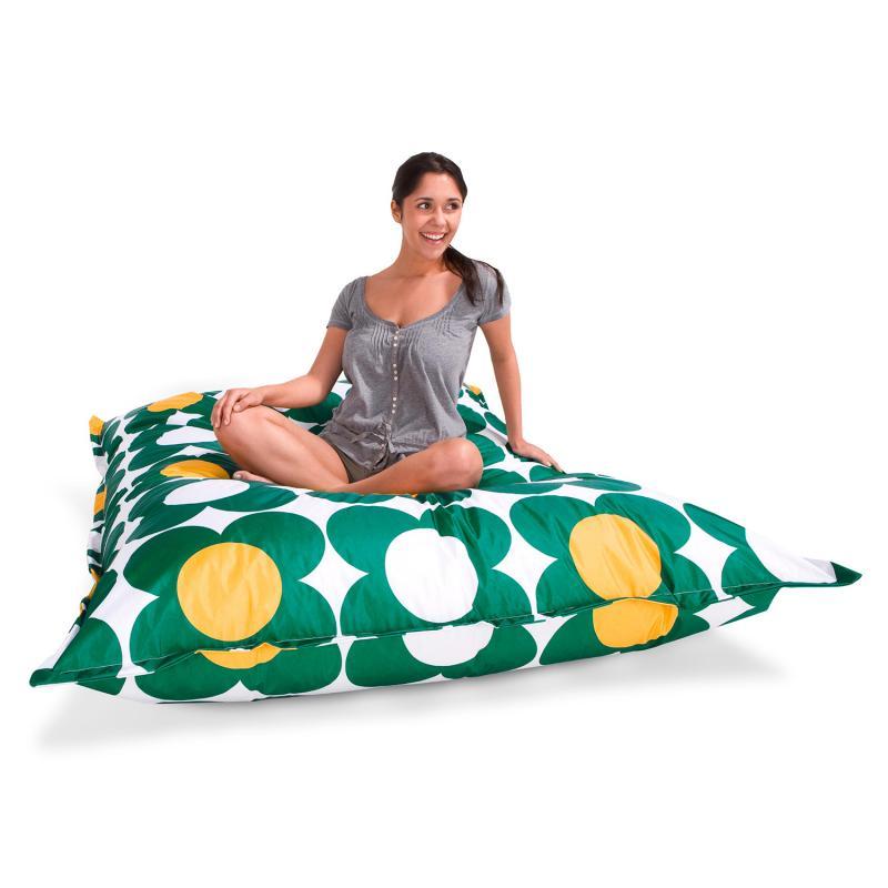 Sitzsack Nightflower grün gelb