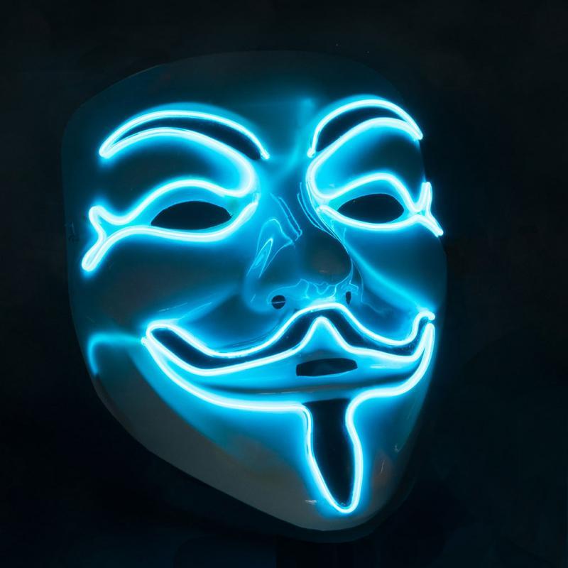 Leuchtende Anonymous Maske