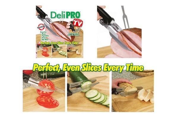 Deli Pro Knife: Scheibenmesser mit Anschlag