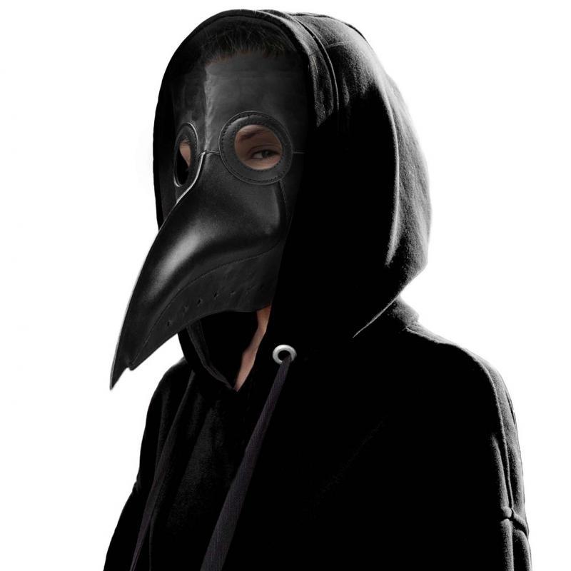 Schnabelmaske aus Leder