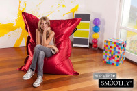 Roter Kindersitzsack Metallic Smoothy » Shop » 24h Versand!
