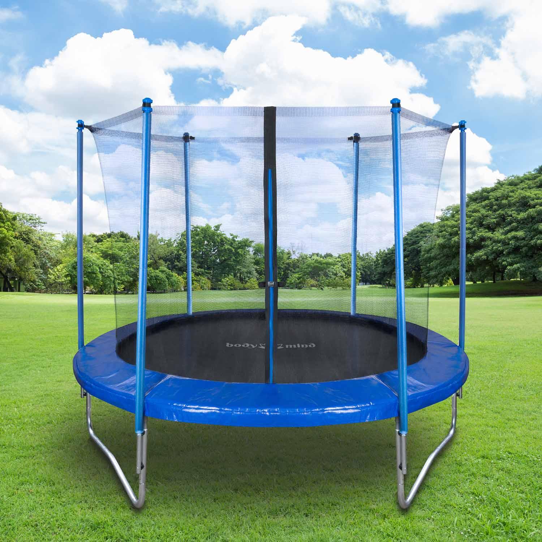 trampolin mit netz 250cm gartentrampolin mit sicherheitsnetz. Black Bedroom Furniture Sets. Home Design Ideas