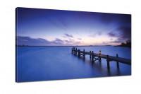 Kunstdruck -  Leinwand mit Keilrahmen  - Seelandschaft