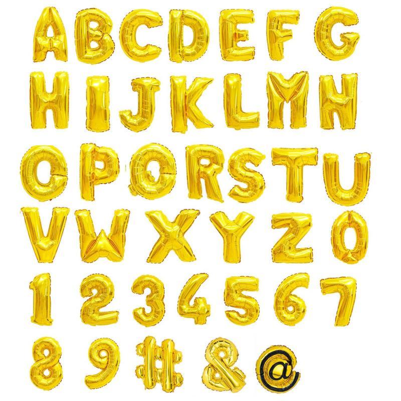 Buchstaben Ballons gold Alphabet A - Z