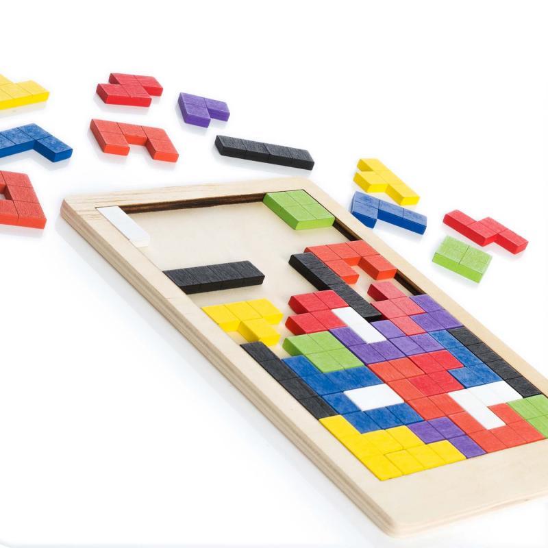 Holz Lernspielzeug Tetris Stil