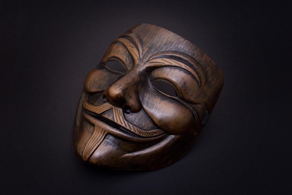 V for Vendetta Maske Bronze » Anonymous Mask » günstig kaufen!