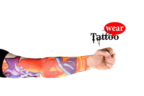 Tattoo Ärmel - Tattooärmel für Karneval & Party - Joker on Fire