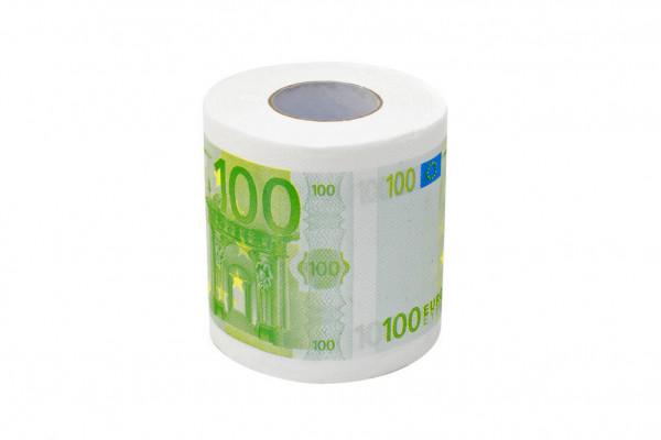 Euro Klopapier 100.- Geldschein Toilettenpapier