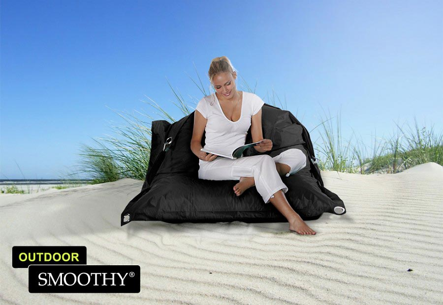 smoothy outdoor sitzsack supreme in mitternachts schwarz. Black Bedroom Furniture Sets. Home Design Ideas