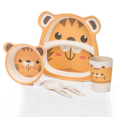 Kindergeschirr - Praktisches Kindergeschirr-Set - Tiger