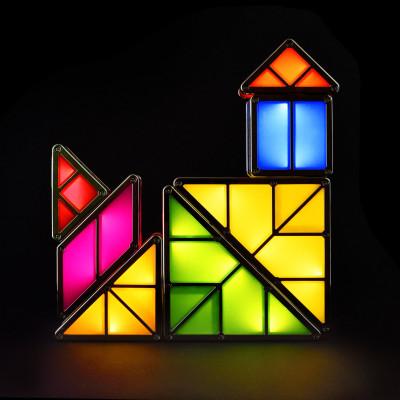 Tangram Licht - LED Light mit Bausteinen und Akku